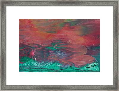 Florid Skies Framed Print by Kristine Kellor