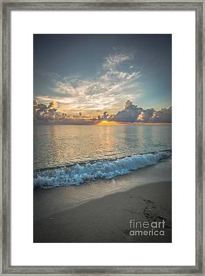 Florida Beach Sunrise Framed Print by Ian Monk