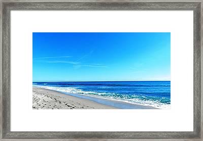 Florida Beach Framed Print by Yvonne Aguero