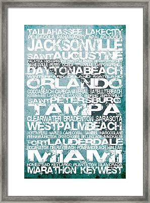 Florida Cities Framed Print