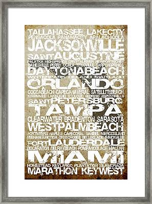 Florida Cities No.3 Framed Print