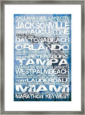 Florida Cities No.4 Framed Print