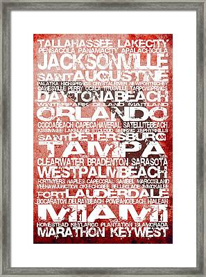 Florida Cities No.5 Framed Print