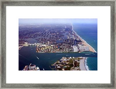 Florida Coast Line-1 Framed Print
