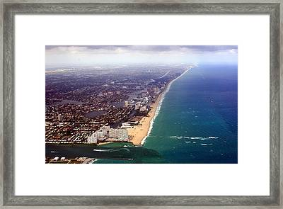 Florida Coast Line-2 Framed Print