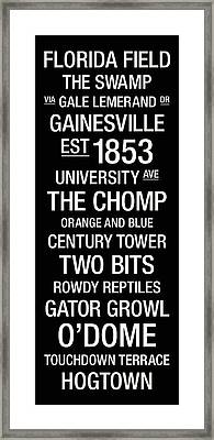 Florida College Town Wall Art Framed Print
