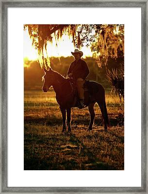 Florida Cracker, Chuck Luzier Framed Print