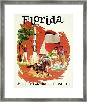 Florida Delta Airlines Framed Print