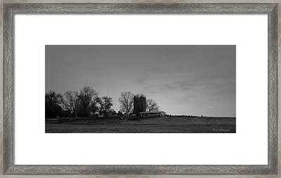 Florida Farmlands Black And White Framed Print by Debra Forand