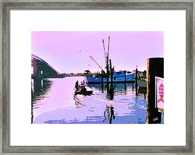 Florida Fishing Dock Framed Print