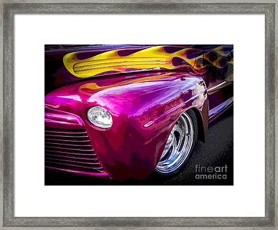 Florida Flames Framed Print by Chuck Re