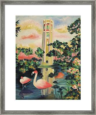 Florida Flamingo's Framed Print by Suzanne  Marie Leclair