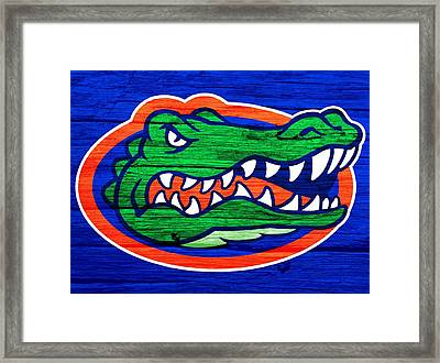 Florida Gators Barn Door Framed Print by Dan Sproul