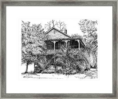 Florida House Framed Print by Arthur Fix