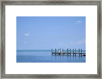 Florida Keys Quiet Place Framed Print by Melanie Viola