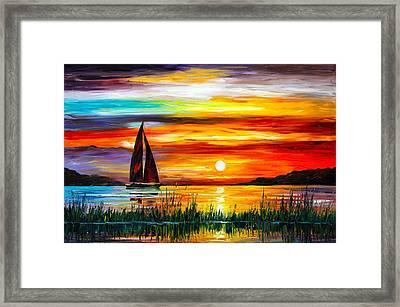 Florida-lake Okeechobee Framed Print by Leonid Afremov