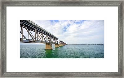 Florida Overseas Railway Bridge Near Bahia Honda State Park Framed Print
