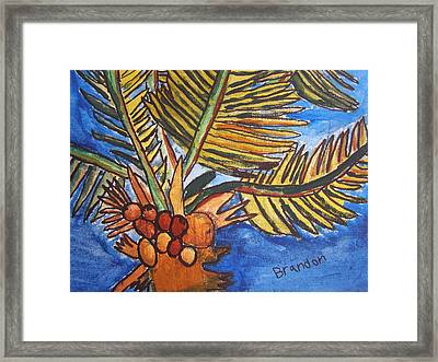 Framed Print featuring the painting Florida Palm by Artists With Autism Inc