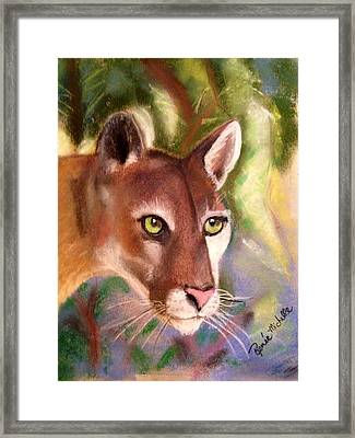 Florida Panther Framed Print by Renee Michelle Wenker