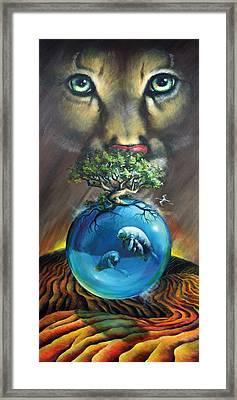 Florida Panther Framed Print by Vanessa Bates