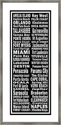 Florida Places On Canvas.com Framed Print