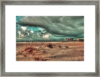 Florida Point Begining Of The Storm Framed Print by Michael Thomas