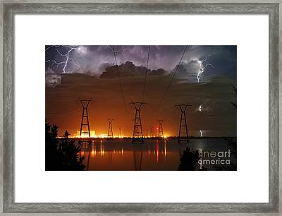Florida Power And Lightning Framed Print by Lynda Dawson-Youngclaus