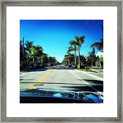 Florida Drive Framed Print