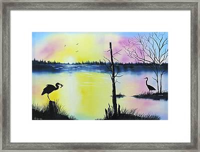 Florida Silohuette Framed Print