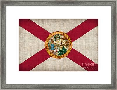 Florida State Flag Framed Print by Pixel Chimp
