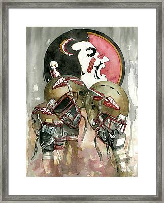 Florida State Seminoles Framed Print by Michael  Pattison