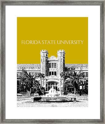 Florida State University - Gold Framed Print by DB Artist