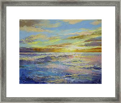 Florida Sunrise Framed Print by Michael Creese