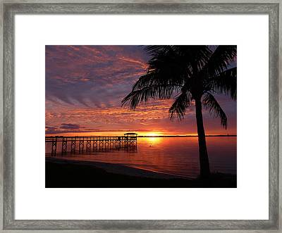 Framed Print featuring the photograph Florida Sunset by Elaine Franklin
