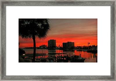 Florida Sunset Framed Print by Hanny Heim
