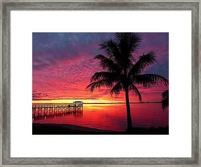 Framed Print featuring the photograph Florida Sunset II by Elaine Franklin