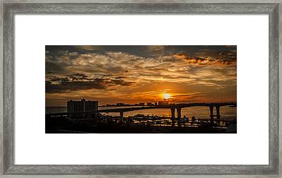 Framed Print featuring the photograph Florida Sunset by Jane Luxton