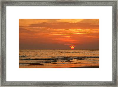 Florida Sunset Framed Print by Sandy Keeton