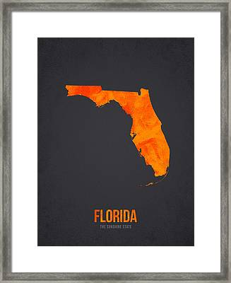 Florida The Sunshine State Framed Print by Aged Pixel