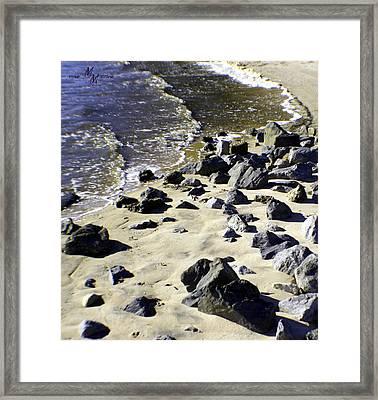 Florida Town Beach Framed Print