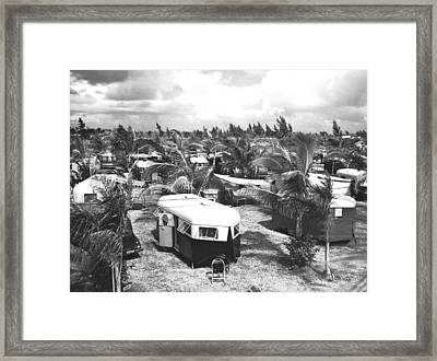 Florida Trailer Camp Framed Print