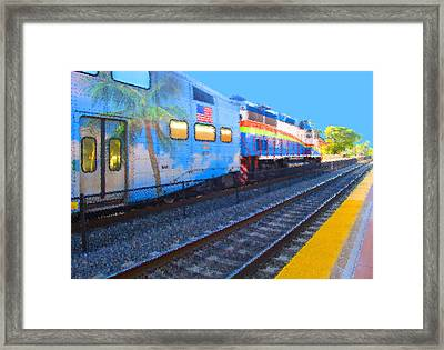 Florida Train Framed Print