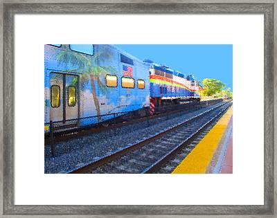 Florida Train Framed Print