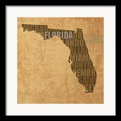 Florida Mixed Media Framed Prints