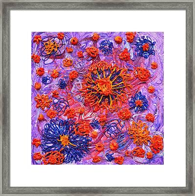 Floridly Floral Framed Print