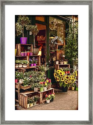 Florist - Champ Libre Framed Print