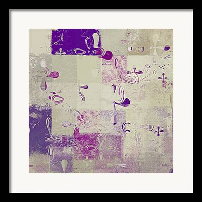 Abbstract Floral Digital Art Framed Prints
