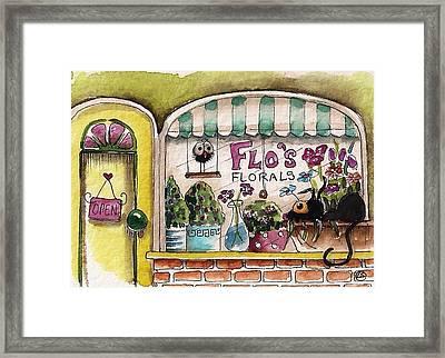 Flo's Flowers Framed Print by Lucia Stewart