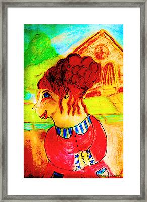 Flossy Fromage Framed Print