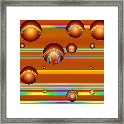 Flotation Devices - Baked Honey Framed Print